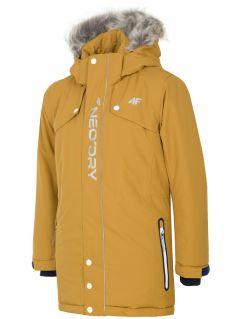 Mestská bunda pre staršie deti (chlapcov) JKUM201 – svetlohnedá