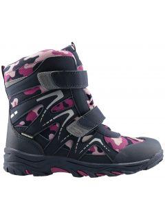 Zimné topánky pre staršie deti (dievčatá) JOBDW406 - tmavofialová