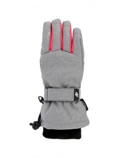 Lyžiarske rukavice pre staršie deti (dievčatá) JRED402 – šedá melanž