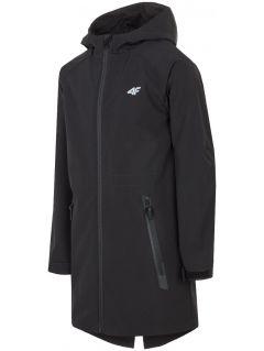 Softshellová bunda pre staršie deti (chlapcov) JSFM200 – čierna