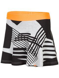 Tepláková suknička pre staršie deti (dievčatá) JSPUD203 - šedá melanž