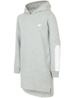 Športové šaty pre staršie deti (dievčatá)  JSUDD206 - svetlošedá melanž