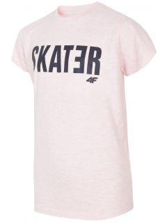Tričko pre staršie deti (chlapcov) JTSM200 - svetloružová melanž