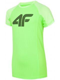 Športové tričko pre staršie deti (chlapcov) JTSM401 - neónová zelená