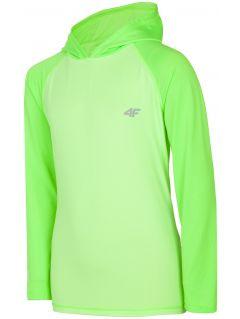 Športové tričko s dlhým rukávom pre staršie deti (chlapcov) JTSML401 - neónová zelená