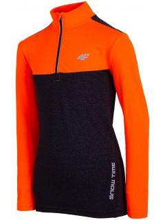 Športové tričko s dlhým rukávom pre staršie deti (chlapcov) JTSML402 - oranžová