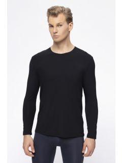 Pánske tričko s dlhým rukávom 4FPro TSML400 – čierna
