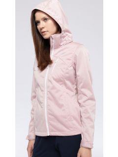 Dámska softshellová bunda SFD301 - svetlá ružová melanž