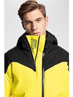 Pánska lyžiarska bunda KUMN152A – žltá