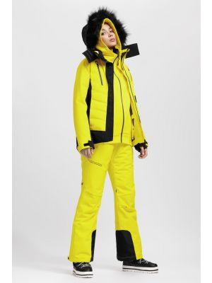 Dámska lyžiarska bunda KUDN161A – žltá