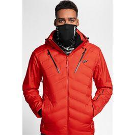 Pánska lyžiarska bunda KUMN150 – červená e05bafdc468
