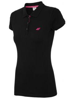 dámske polo tričko TSD017 - čierna