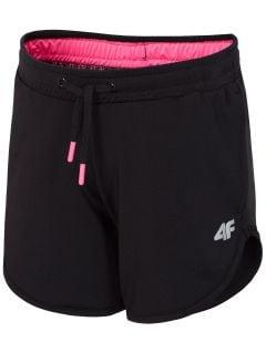 Tréningové šortky pre mladšie dievčatká JSKDD300 - čierna
