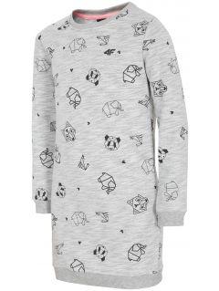Šaty pre mladšie dievčatká JSUDD103a - svetlá šedá