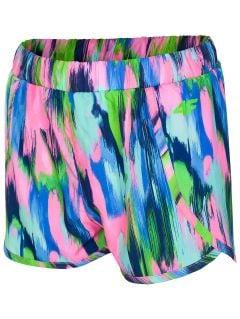 plážové šortky pre staršie dievčatá JSKDT201A - multikolor