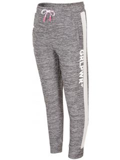 Športové nohavice pre mladšie dievčatká JSPDTR300 - svetlošedá