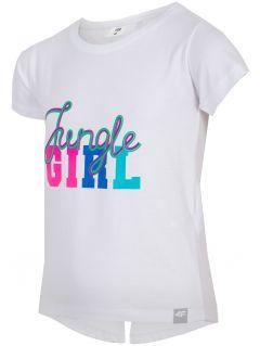 Tričko pre mladšie dievčatká JTSD111 - biela