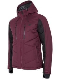 Pánska lyžiarska bunda KUMN256 – burgundská červená