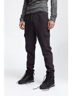 Pánske teplákové nohavice SPMD257 - tmavošedá melanž