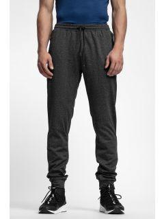 Pánske teplákové nohavice SPMD303 - čierna melanž