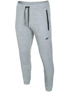 Pánske teplákové nohavice SPMD303 - svetlošedá melanž