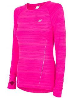 Dámske tréningové tričko s dlhým rukávom TSDLF300 - ružová melanž