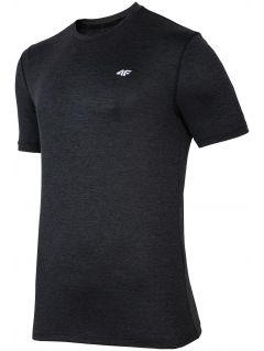 Pánske tréningové tričko TSMF301 - čierna melanž