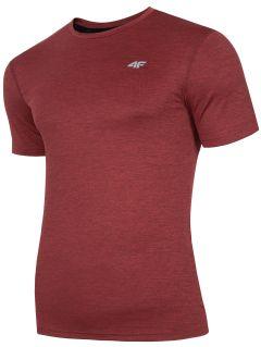 Pánske tréningové tričko TSMF301 - červená melanž