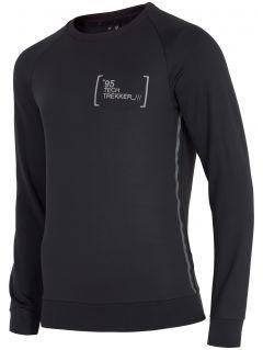 Pánske tričko s dlhým rukávom TSML263 - tmavošedá