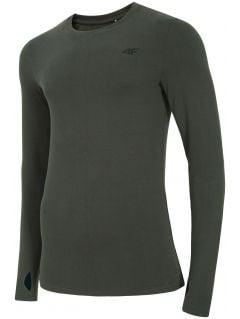 Pánske tričko s dlhým rukávom TSML300 – tmavošedá