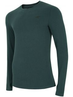Pánske tričko s dlhým rukávom TSML300 – morská zelená melanž