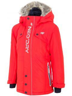 Mestská bunda pre mladšie deti (chlapcov) JKUM101 – červená