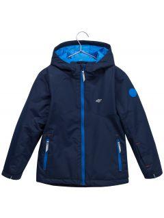 Lyžiarska bunda pre mladšie deti (chlapcov) JKUMN302 – tmavomodrá