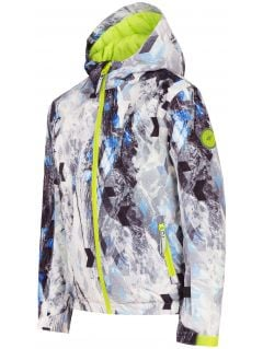 Lyžiarska bunda pre mladšie deti (chlapcov)  JKUMN303 - čierno-biela allover