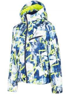 Lyžiarska bunda pre staršie deti (chlapcov) JKUMN403 - zelená