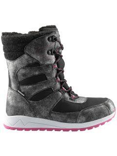 Zimné topánky pre staršie deti (dievčatá) JOBDW404 – čierna