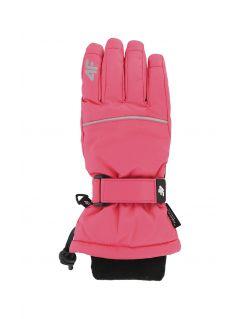 Lyžiarske rukavice pre staršie deti (dievčatá) JRED402 – fuksiová