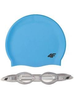 Plavecká čiapka + okuliare pre staršie deti (chlapcov) JSETM401 – modrá