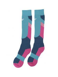 Lyžiarske ponožky pre staršie deti (dievčatá) JSODN400 – multifarebná