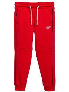 Teplákové nohavice pre mladšie deti (chlapcov) JSPMD104 – červená
