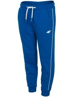 Teplákové nohavice pre staršie deti (chlapcov) JSPMD211- kobaltová modrá