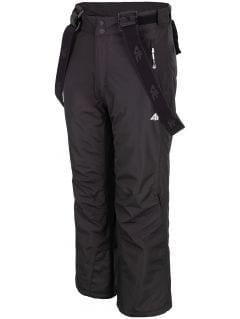 Lyžiarske nohavice pre staršie deti  (chlapcov) JSPMN400 – čierna