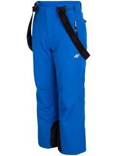 Lyžiarske nohavice pre staršie deti  (chlapcov) JSPMN400 – kobaltová modrá