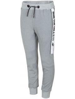 Športové nohavice pre staršie deti (chlapcov) JSPMTR405 - šedá melanž
