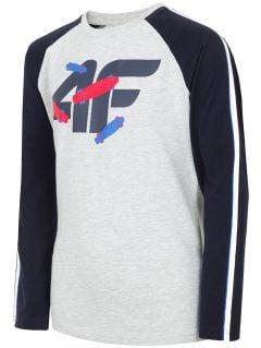 Tričko s dlhým rukávom pre staršie deti (chlapcov) JTSML217A – tmavomodrá