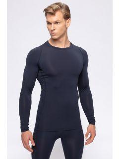 Pánske tričko s dlhým rukávom 4FPro TSMLF402 - tmavomodrá