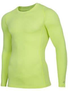 Pánske tričko s dlhým rukávom 4FPro TSMLF402 - žltá neónová