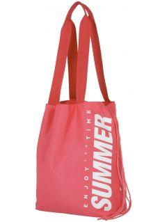 plážová taška  tpl204 - svetlá ružová neón