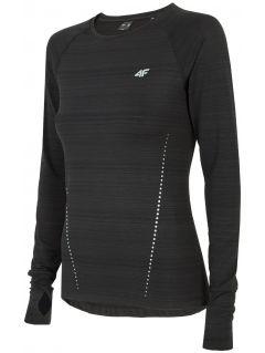 Dámske tréningové tričko s dlhým rukávom TSDLF300 - čierna