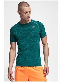 Pánske tréningové tričko TSMF258 - tmavozelená melanž